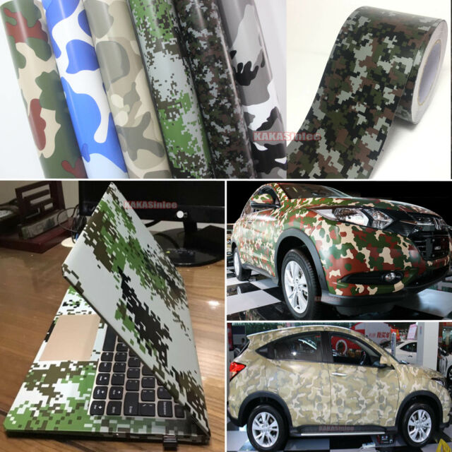 Stylish Camouflage Camo Car Digital Desert Forest Vinyl Wrap Decal Sticker  ABUS