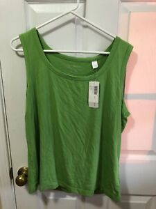 0c63036afecb7 Chico s NEW Women sz 3 Splendor Monitor Lime Sleeveless Ultimate Tee ...