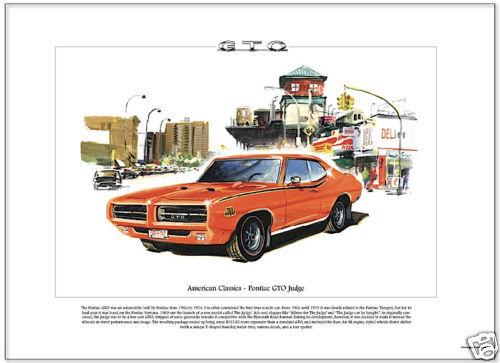 Ram Air III engined car Fine Art Print American Classics PONTIAC GTO JUDGE