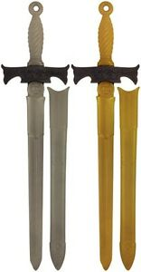 Plastic-Play-Sword-BULK-BUY-65cm-Gold-or-Silver-Role-Play-Toy