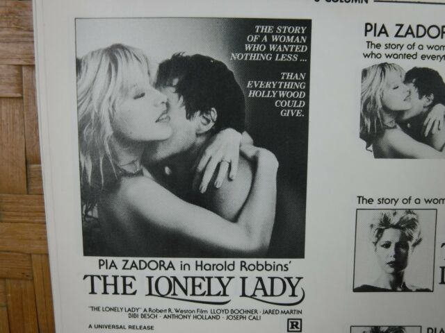 THE LONELY LADY Movie Mini Ad Sheet Vintage Advertising Poster Film Pia Zadora