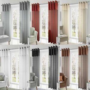 Madeira-Crushed-Silk-Metallic-Eyelet-Voile-Panels-Sheer-Ring-Top-Curtain-Pairs