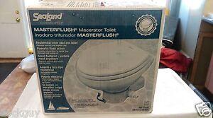 NEW-SeaLand-MasterFlush-7160-Electric-Macerating-Toilet-Orbit-Base-Raw-Water