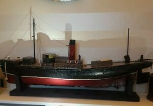 Vintage X-Large Battery Powered Model Cargo Boat