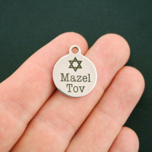 BFS295 Exclusive Line Mazel Tov Stainless Steel Charms Quantity Options