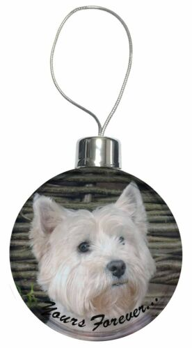 West Highland 'Yours Forever' Christmas Tree Bauble Decoration Gift, ADW33yCB