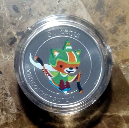 Canada Vancouver 2010 Ice Hockey QUATCHI Mascot Encapsulated 50c Coin!!