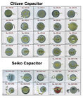 CITIZEN & SEIKO WATCH BATTERY CAPACITOR  REPLACEMENT PARTS REPAIR SERVICE