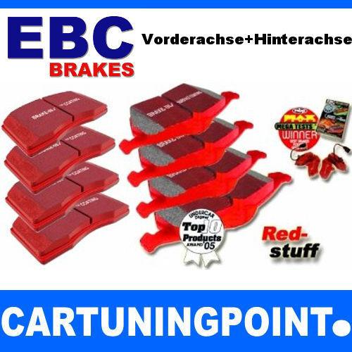 EBC PASTILLAS FRENO delant. + eje trasero Redstuff para Porsche Boxster 986