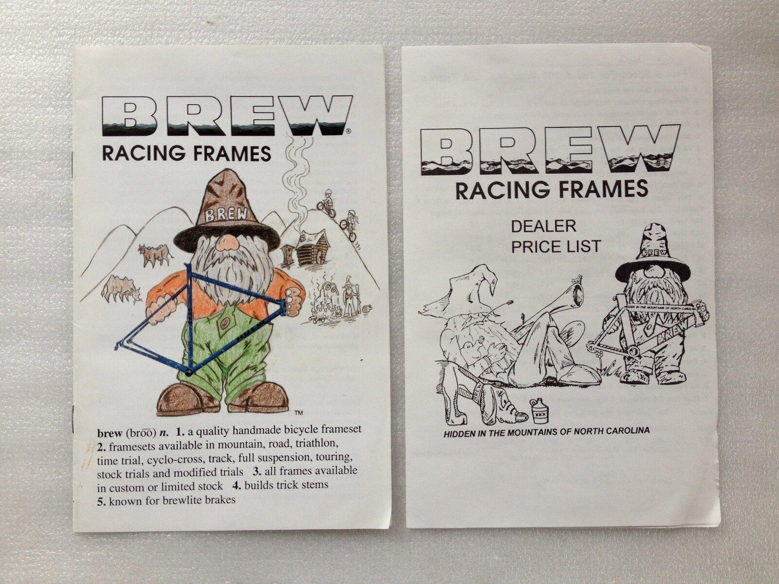 Vintage Original BREW Bicycle Catalog