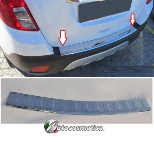 Protezione soglia carico Opel Mokka X acciaio SATINATO paraurti battivaligia