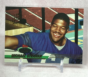 MICHAEL STRAHAN 1993 TOPPS STADIUM CLUB ROOKIE RC DRAFT PICK STAMP GIANTS