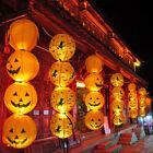 10Pcs Halloween Pumpkin Round Paper Lantern Jack O Hanging Light Lamp Home Decor