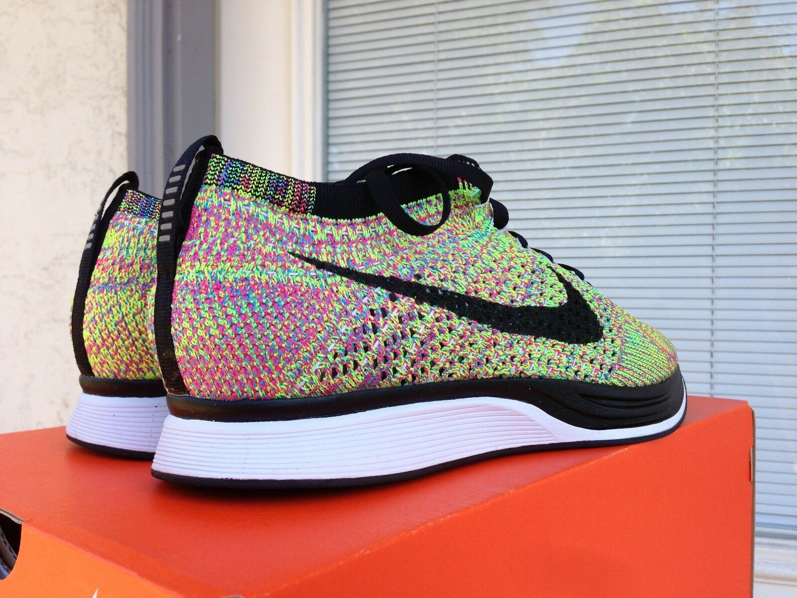 NIke flyknit racer original 1.0 multicolor htm oreos turquois  size 8