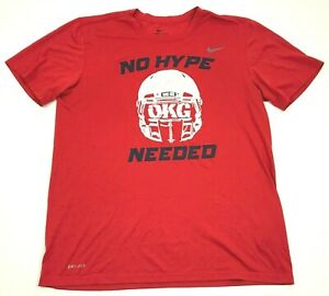 Nike Washington HUSKIES Dry Fit Shirt Mens Size Large Red OKG NO HYPE NEEDED Tee