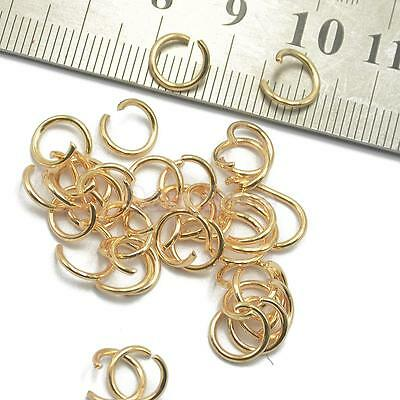 400pcs Gold Open Jump Rings Jewelry Findings Craft Connector Beading Tools