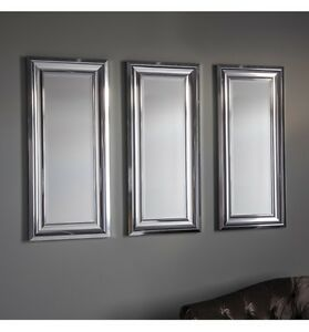 Bowen Chrome Effect Frame Trio Set Of 3 Rectangle Accent Wall