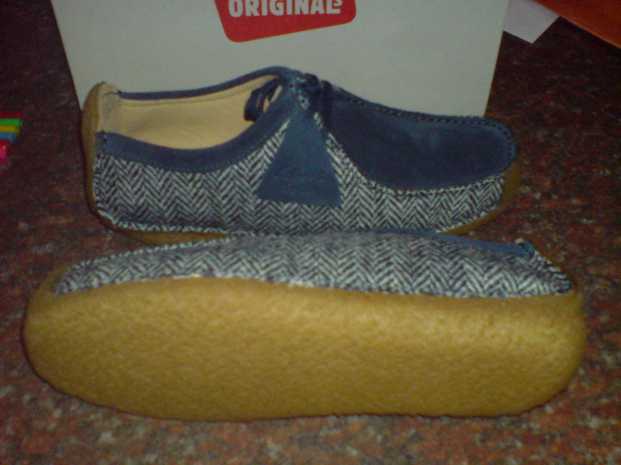 Clarks Originals ** ** Natalie Harris Tweed ** Originals Navy / Cream Combi * UK 7,8,9,10,11 b97d31