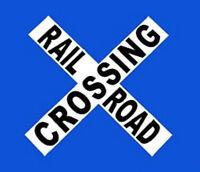 Railroad Crossing Crossbuck Sign // Train // Locomotive