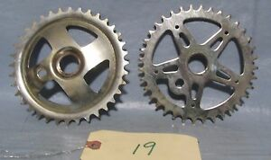 2 Vintage Industrial Machine Age Steel Flat Bicycle Gears Steampunk Altered Art