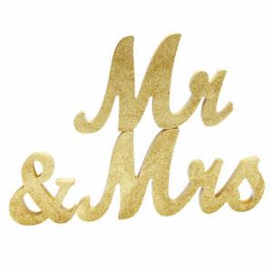 Deko Holzbuchstaben Mr /& Mrs Schriftzug selbststehend