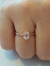 CLOSING SUNDAY     NEW Mawi Kunzite Rose Gold Plated Sterling Silver Size 7