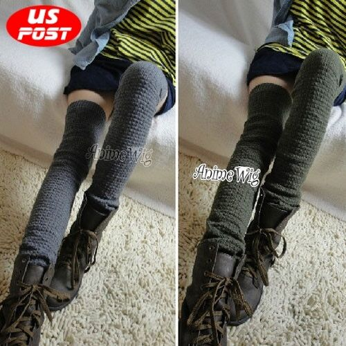 Over The Knee Knit Fashion Women Soft Warm Leg Warmers Leggings Socks 4 Colors