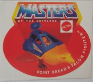 Sammler-Aufkleber Point Dread & Talon Fighter Motu Masters of the Universe