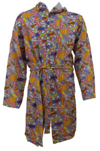 Adults Comicbook Print Comfy Robe Dressing Gown Bargain Deal