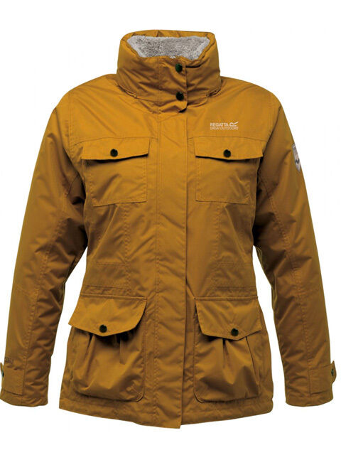 Regatta DaSie Winter-Funktionsjacke Rainfall 3-in-1, ISOTEX 5000 Gr. 42 Gold