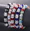 Free Ship NEW 1pcs Glass Crystal Beads Bracelets Lucky Charms bangle