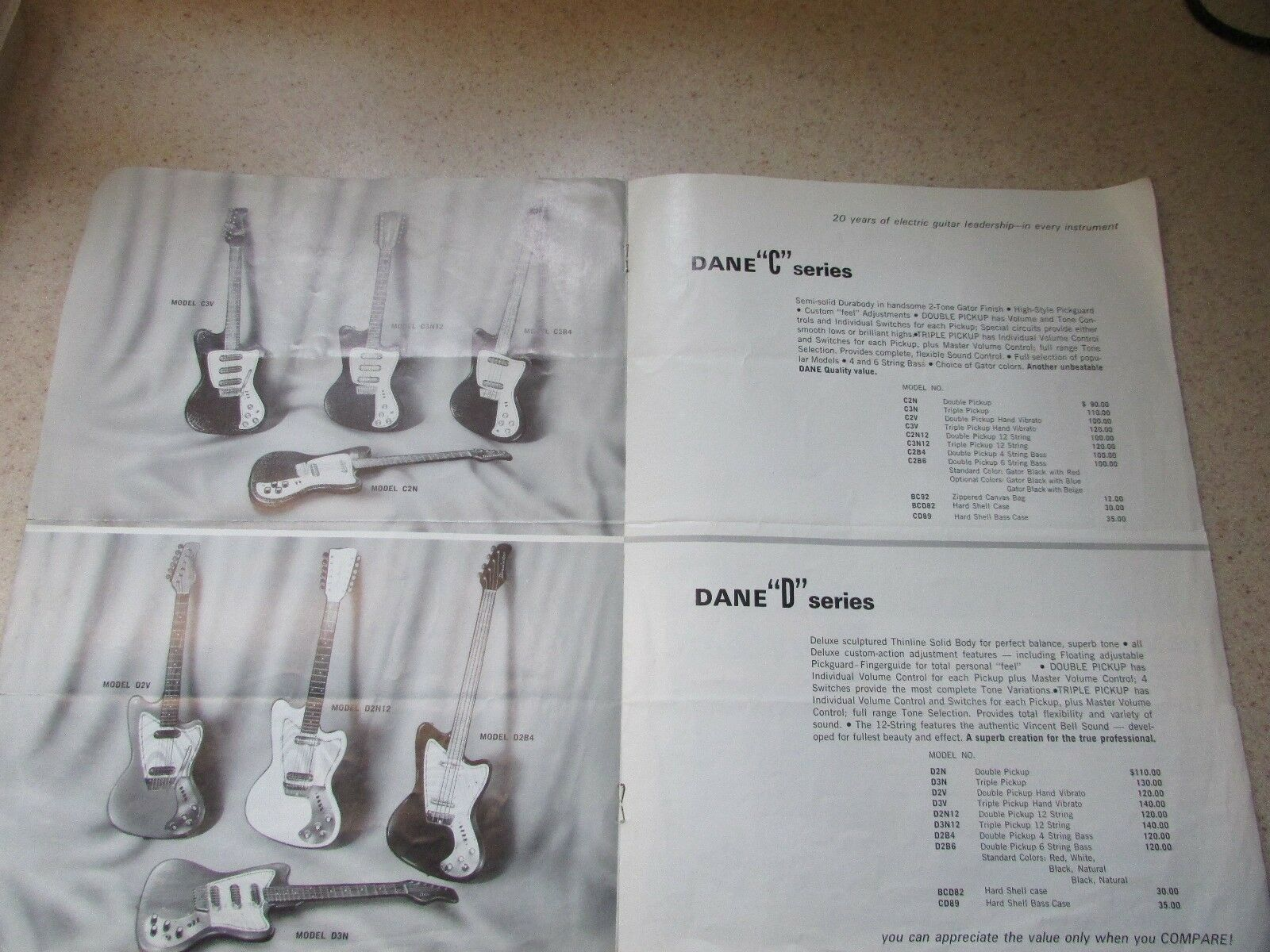 Original 1967 1967 1967 Danelectro Catalog Vinnie Bell Cover b86cdf