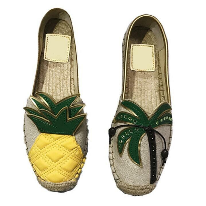 Ladies Pineapple Shoes Summer Flat Summer Shoes Loafers Slip On Moccasins Driving Boat Shoes 52949e