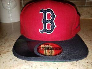 AUTHENTIC Boston Red Sox navy New Era 59Fifty Cap