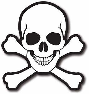 Skull and Bones Decal Bumper Sticker