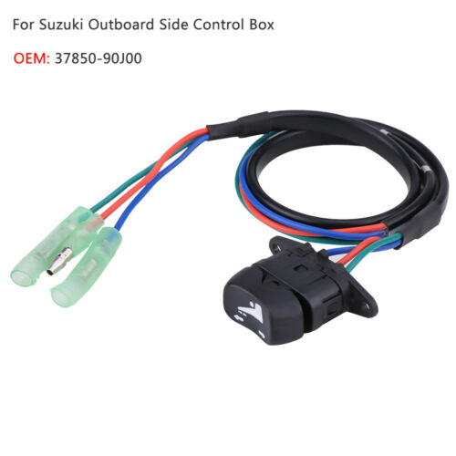Trim Tilt Switch Replacement for Suzuki Outboard Side Control Box 37850-90J00