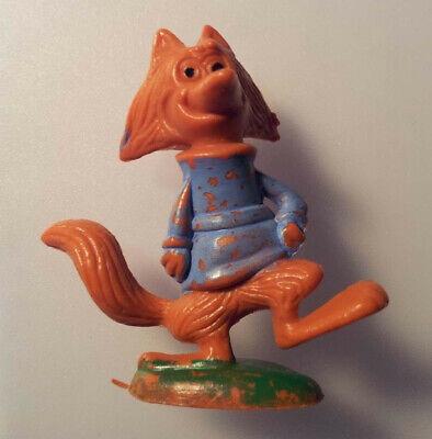 Figurine De Renard Anthropomorphe, En Plastique, Années 1970-80, 4 Cm De Haut Pacchetti Alla Moda E Attraenti