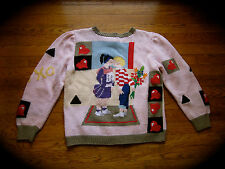 BEREK HAND KNIT MARTA D S SMALL YOUNG LOVE VALENTINE'S DAY SWEATER KISSING PAIR