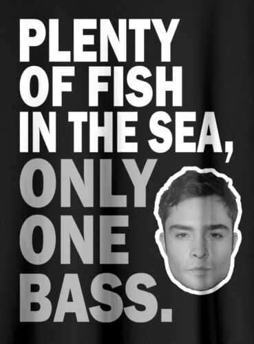 PLENTY OF FISH ONLY ONE BASS CHUCK BASS T Shirt BLACK TEE S-2XL SWAG HIP HOP HOT