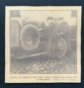 1926 Newspaper Clipping ROYAL ULSTER CONSTABULARY CLEAN POLICE LANCIA FOR SALE
