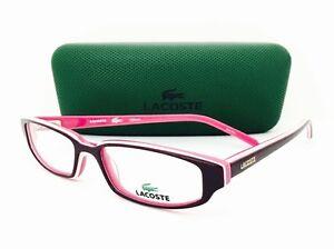 0d40f5a7188e NEW Lacoste Eyeglasses Authentic LA 12206 Purple 50•16•135 With Case ...
