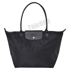 8710192327c Authentic 100 Longchamp Le Pliage Large Neo Black Nylon Tote Bag for ...