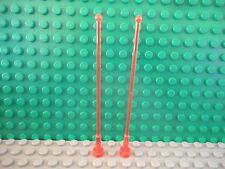 Lego 2 Trans Neon Orange whip antenna 8H NEW