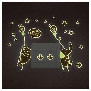 1pc-Sticker-Autocollant-Mural-Fluorescent-Lumineux-Animal-Pr-Bebe-Enfant-Chambre