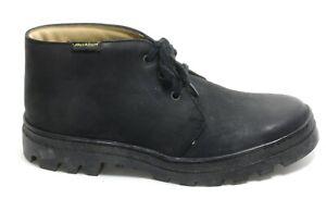 651 Chaussures à Lacets Basses Cuir Cheville Bottes Palladium Unisex Noir Docker