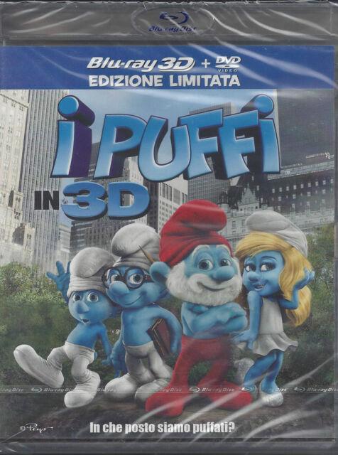 Blu-ray 3D + Blu-ray 2D + Dvd **I PUFFI IN 3D** nuovo sigillato 2011