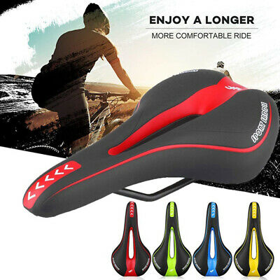 Comfort Bike Seat Cushion Soft Padded Mountain Cruiser Road Bicycle Cycle Saddle