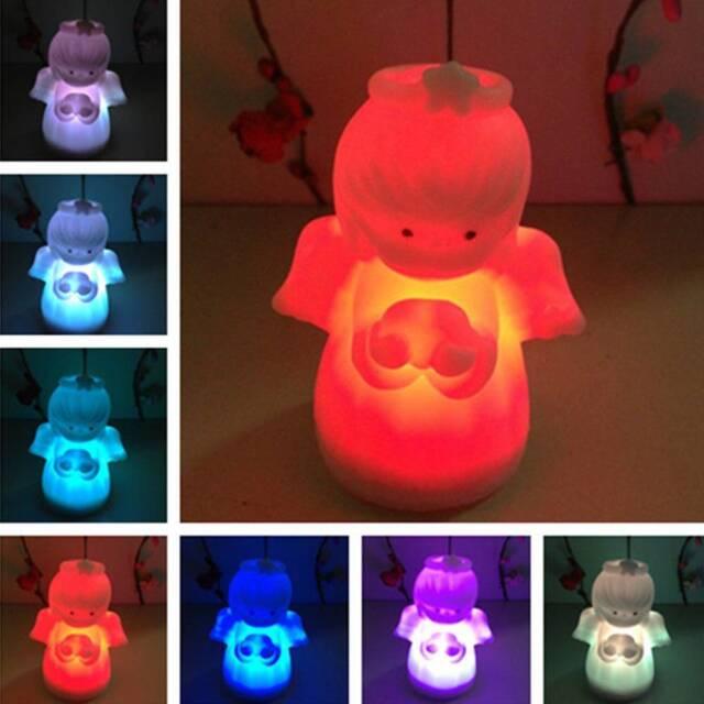 Creative Desk Lamp Color Changing Angel Night Light Kids Gift Home Decoration