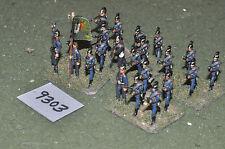 25mm vieja escuela franco-Imperio Guerra infantería 22 figuras (9303) De Metal Pintado