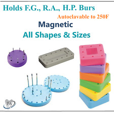 Round Bur Block Magnetic Fg Ra Fgos Dental Burs Block 7 Hole Or 28 Hole 14 Hole